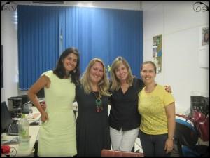 Da esquerda para direita. Nathalia, Rochele, Julia e Denise.
