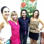 Da esquerda pra direita. Marília, Julia, Ricardo e Caroline