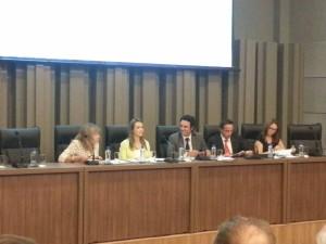 Mesa do Fórum Catarinense de Combate aos Impactos dos Agrotóxicos e Transgênicos