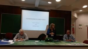 Professores Pedro Jacobi,   Julia Guivant e José Luiz Cerveira.