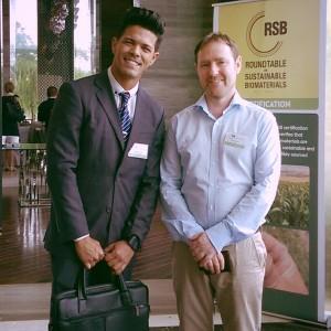 Déberson e o Sr, Rolf Hogan, Diretor Executivo da RSB.